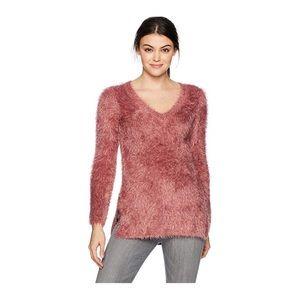 Jack By BB Dakota Pink Eyelash Sweater SZ M